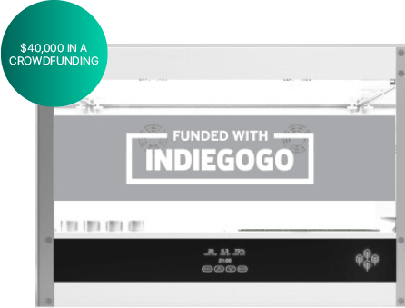 Crowdfunded with IndieGoGo